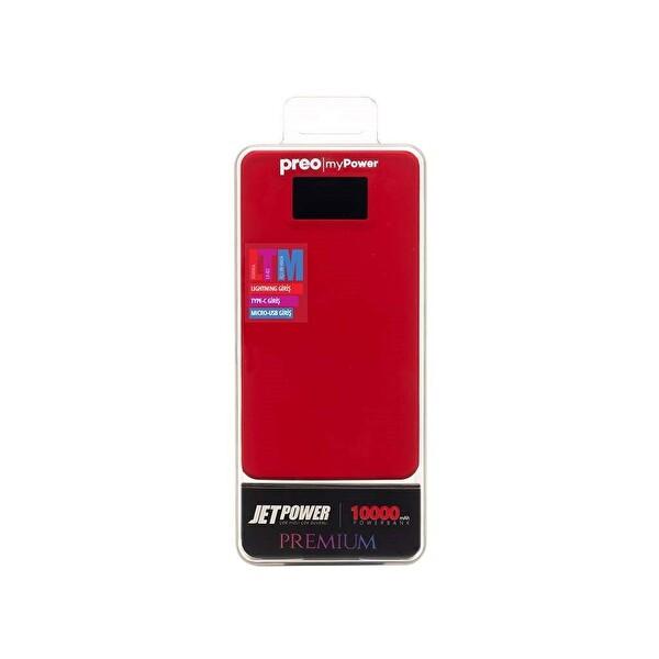 Preo My Power Jetpower A4 10.000 mAh Ekranlı Powerbank (Kırmızı)