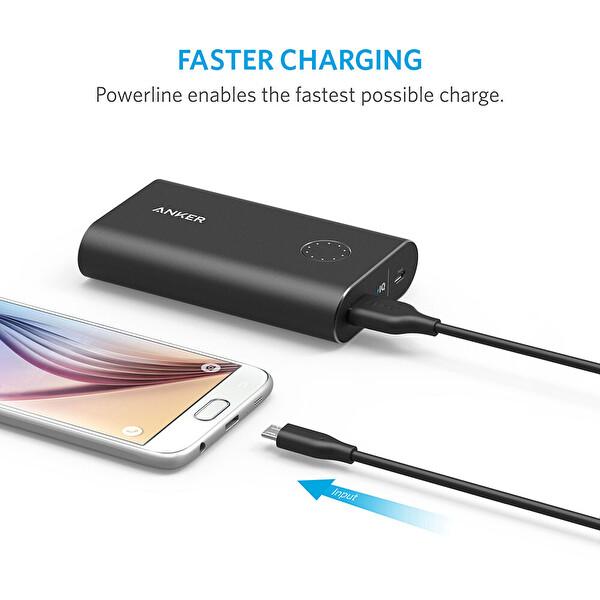 Anker Powerline 2M Siyah Micro USB Kablo