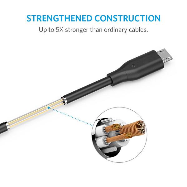 Anker Powerline Micro Usb Kablo 90 cm Siyah