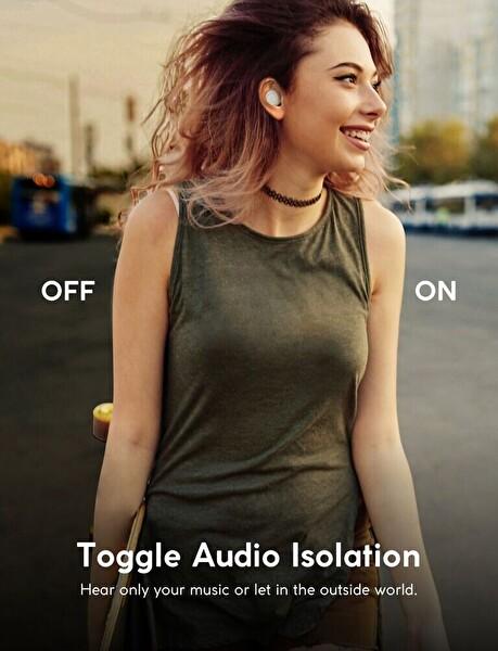 Anker Zolo Liberty + Stereo Anc Grafen Sürücü Bluetooth Kulaklık Beyaz