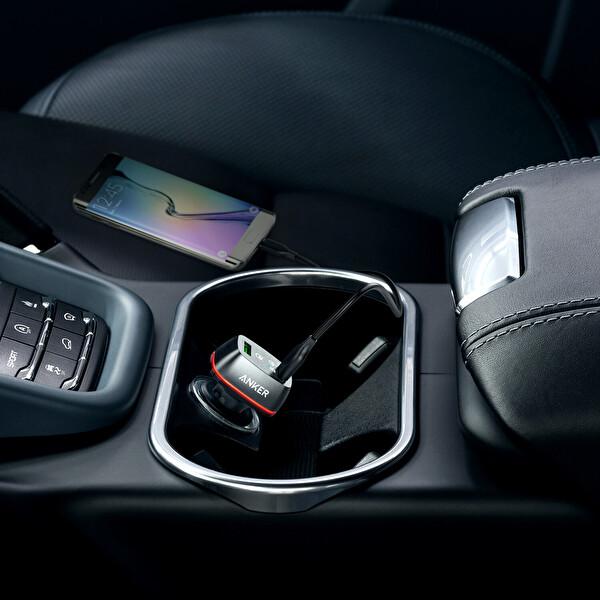 Anker Powerdrive+ 2 24W Quickcharge 3.0 Siyah Hızlı Araç Şarj Cihazı