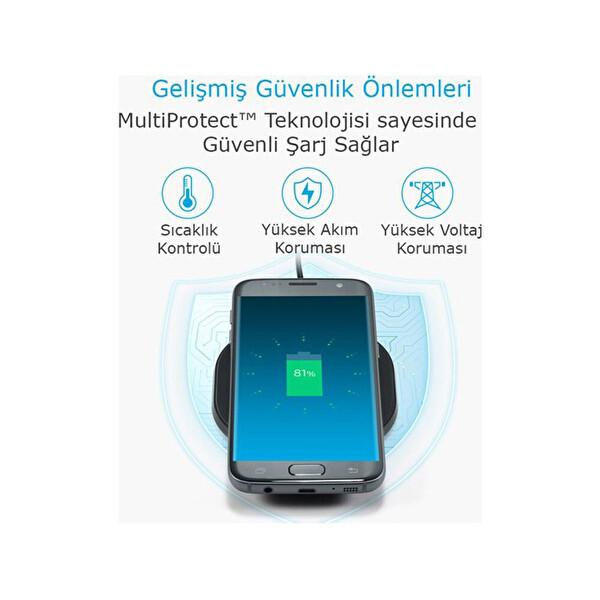 Anker Powerport Wireless 10 Pad 10W Kablosuz Hızlı Şarj Cihazı(QI Sertifikalı Tüm Cihazlar İle Uyumlu)