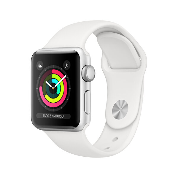 Apple Watch S3 38mm Silver Alüminyum Kasa ve Beyaz Spor Kordon (MTEY2TU/A)