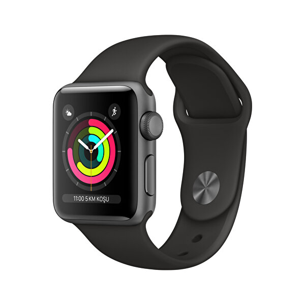 APPLEWATCH SERIES3 GPS, 38MM SPACE GREY ALUMINIUM CASE WITH BLACK SPORT BAND(MTF02TU/A) ( OUTLET )