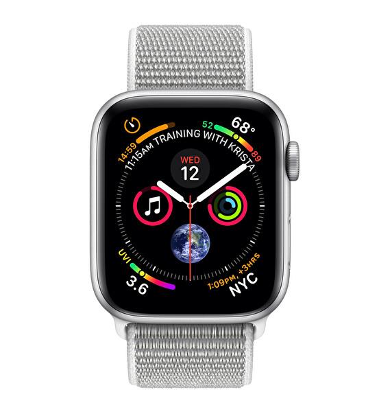 Apple Watch S4 44mm Silver Alüminyum Kasa Spor Kordon (MU6C2TU/A)