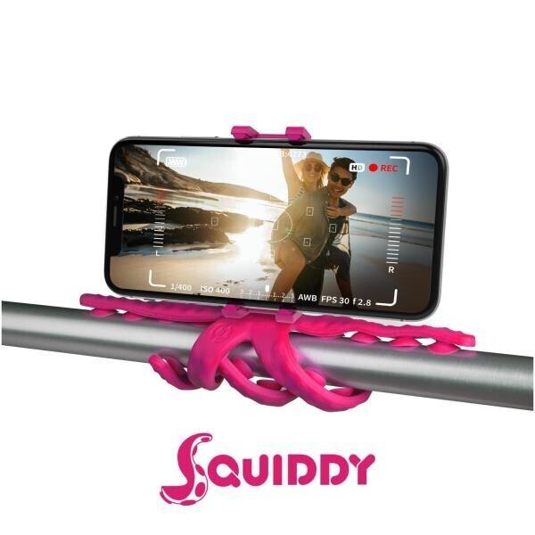 Squiddy Flexible Mini Tripod Pembe