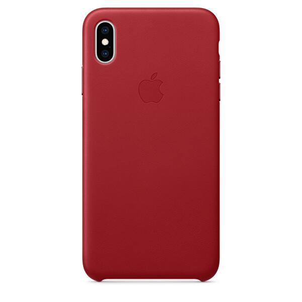 Apple iPhone XS Max Kırmızı Deri Kılıf (MRWQ2ZM/A)