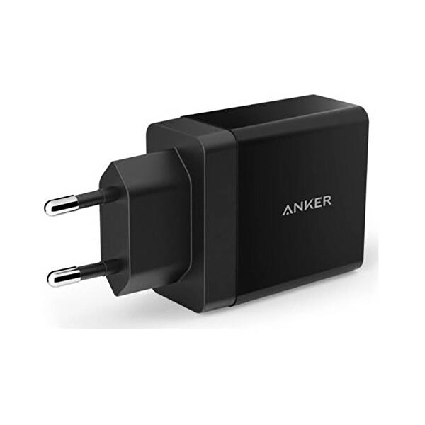 Anker Powerport 2 Şarj Cihazı + Micro USB Kablo (Siyah)