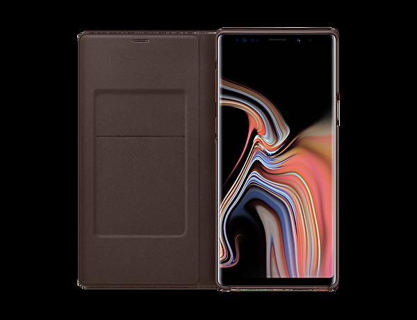 Samsung Note 9 NOTE 9 Led View Kılıf - Sepya