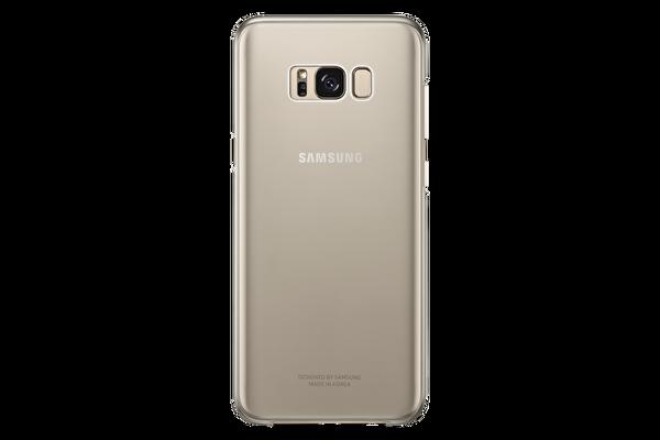 SAMSUNG S8 PLUS ŞEFFAF KILIF GOLD
