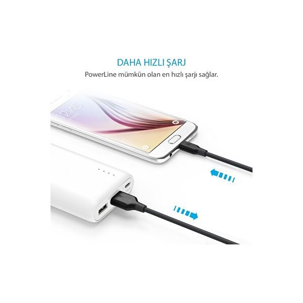 Anker Powerline 0.9M Micro USB Şarj&Data Kablosu - Kırmızı