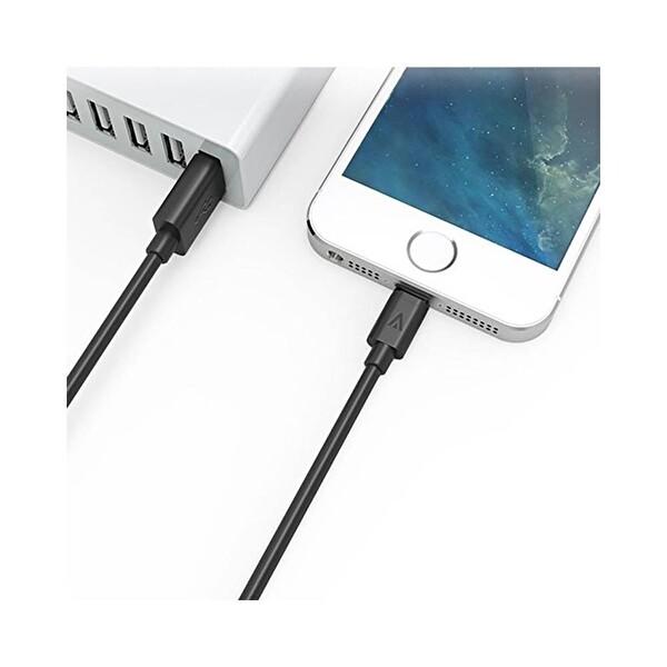 Anker Premium Lightning Şarj Kablosu 0.9M Siyah Ofp