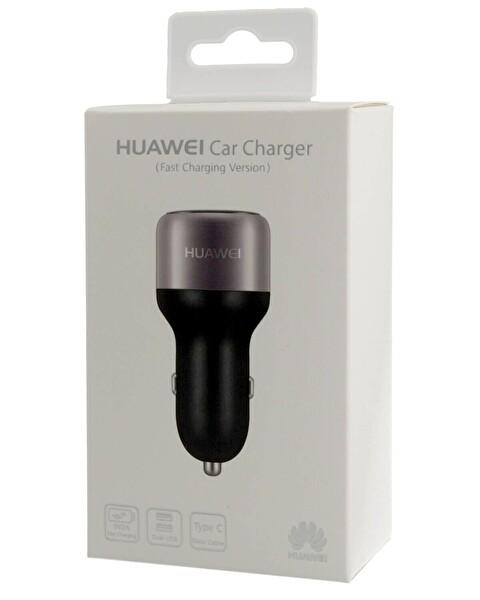 Huawei Araç Şarj Kiti + Siyah Hızlı Type-C Kablo