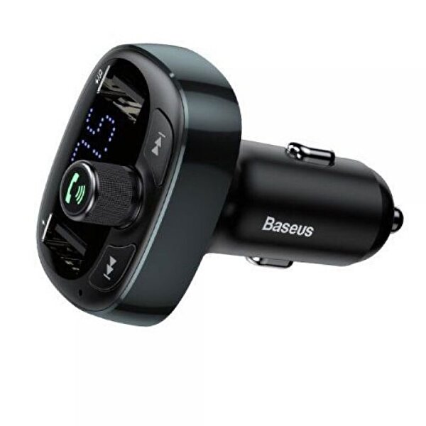 Baseus T Typed Bluetooth MP3 Araç İçi Telefon Şarj Cihacı (STD versiyon) Siyah