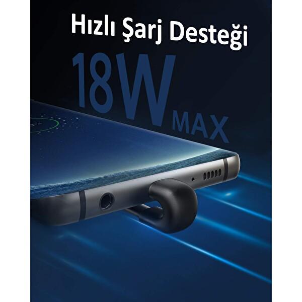 Anker PowerLine Play A8722 Type-C Oyuncu Kablo 0.9M Siyah
