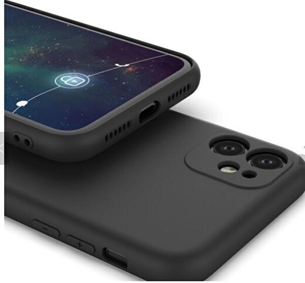 Preo My Case Nano iPhone 11 Lens Korumalı Silikon Telefon Kılıfı Siyah