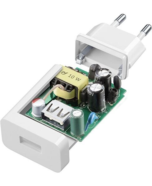 Cellularline 10W Beyaz Micro USB Seyahat Şarjı