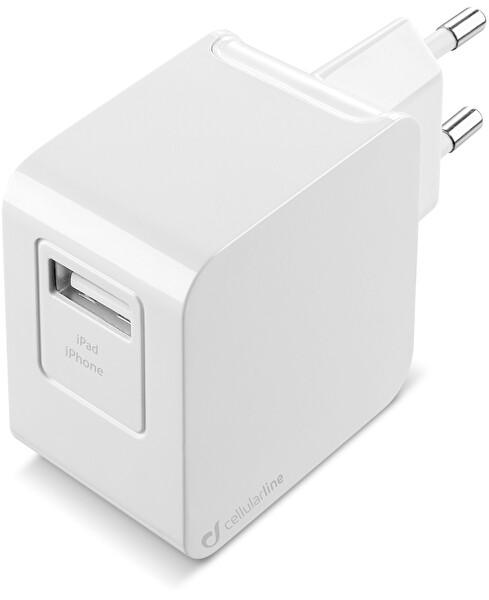 Cellularline Beyaz 2A Lightning Kablo + Adaptör Seyahat Şarjı