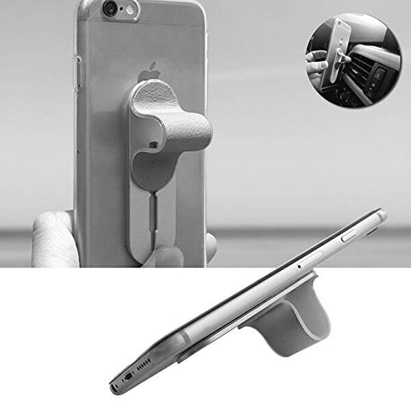 Momostick B-PU-03 Fonksiyonel Telefon Tutucu (Siyah)