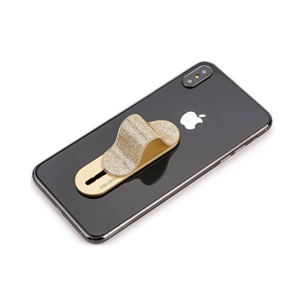 Momostick B-PE-02 Fonksiyonel Telefon Tutucu - Altın