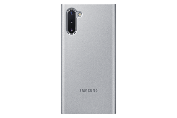 Samsung Galaxy Note 10 Clear View Kılıf - Gümüş Gri