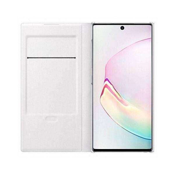 Samsung Galaxy Note 10 LED View Kılıf - Beyaz