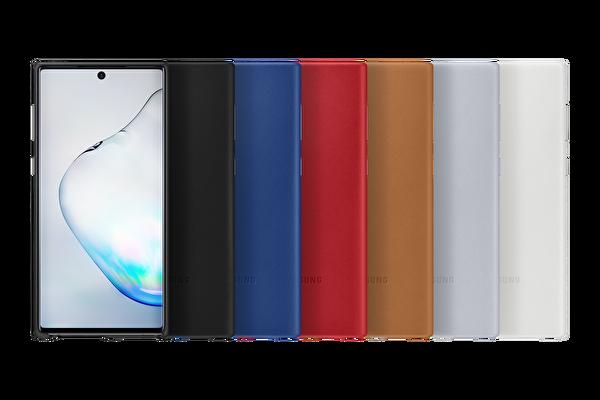 Samsung Galaxy Note 10 Deri Kılıf - Beyaz