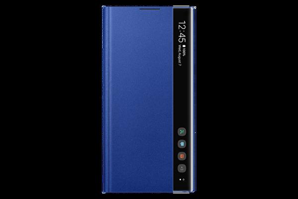Samsung Galaxy Note 10+ Clear View Kılıf - Mavi