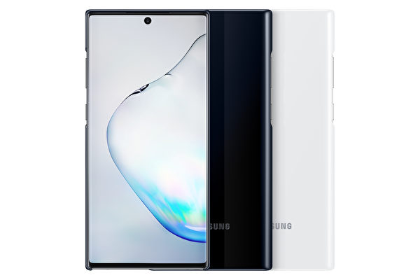 Samsung Galaxy Note 10+ LED Kılıf - Beyaz