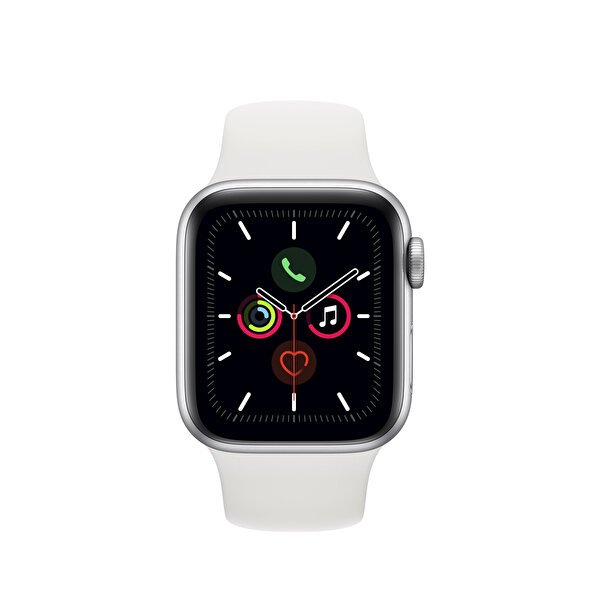Apple Watch S5 GPS 40MM Silver Alüminyum Kasa Beyaz Spor Kordon