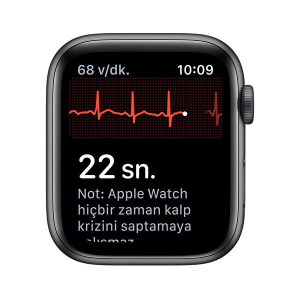 Apple Watch S5 GPS 44MM Space Grey Alüminyum Kasa Siyah Spor Kordon