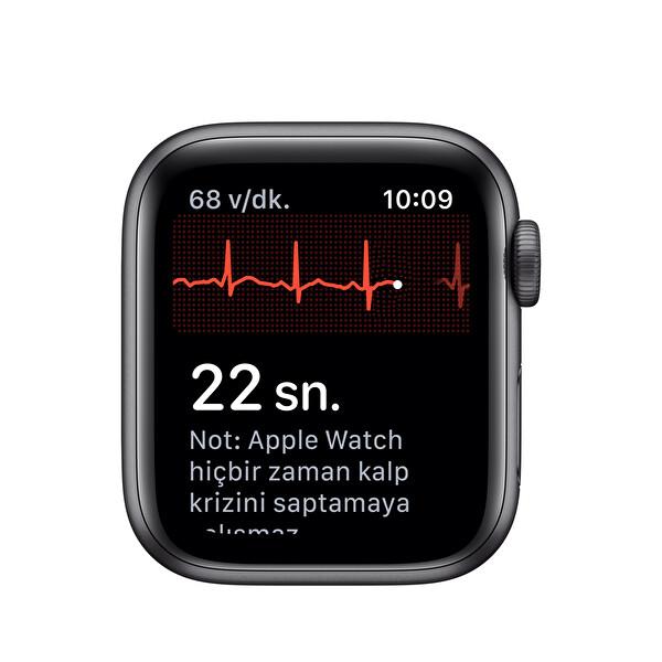 Apple Watch Nike Seri 5 40M Space Grey Alüminyum Kasa Siyah Nike Sport Kordon