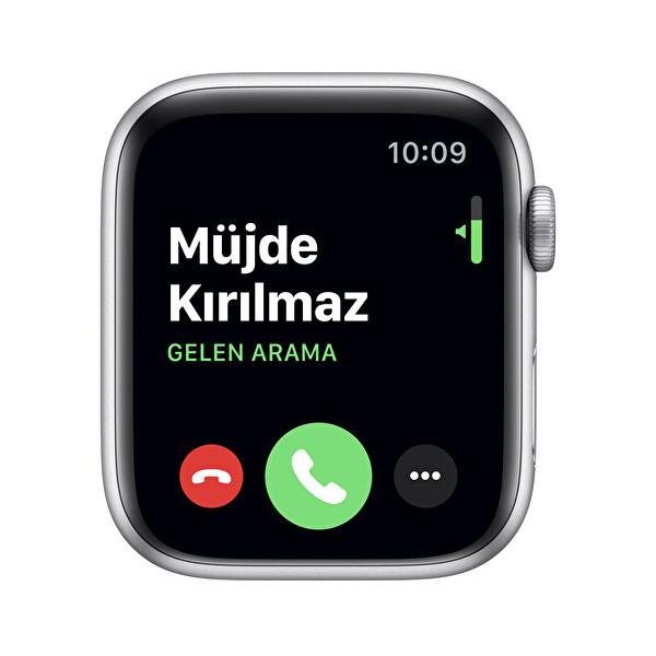 Apple Watch Nike Series 5 44MM Silver Alüminyum Kasa Platinum/Siyah Nike Spor Kordon