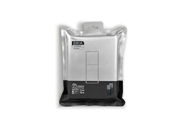 Dnia Mini Black 5.000 mAh 2A in 2.1A Out Powerbank