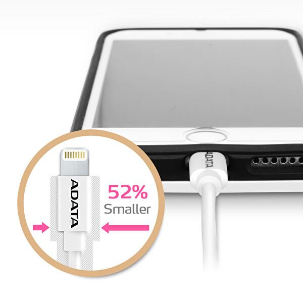 Adata 1M Lightning MFI Hızlı Şarj Kablosu Plastik Beyaz (Apple)