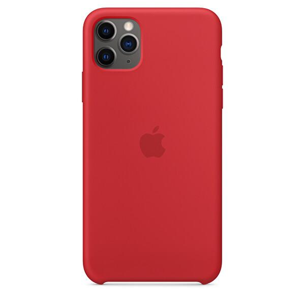 Apple iPhone 11 Pro Max Kırmızı Silikon Kılıf MWYV2ZM/A