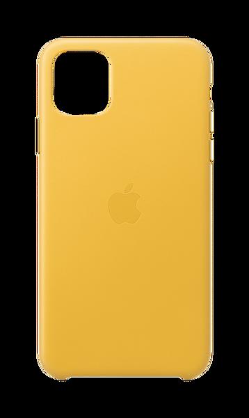 Apple iPhone 11 Pro Max Limon Rengi Deri Kılıf MX0A2ZM/A
