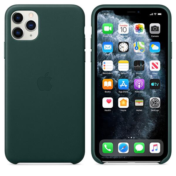 Apple iPhone 11 Pro Max Orman Yeşili Deri Kılıf MX0C2ZM/A