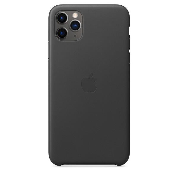 APPLE MX0E2ZM/A iPhone 11 Pro Max Deri kılıf - Siyah