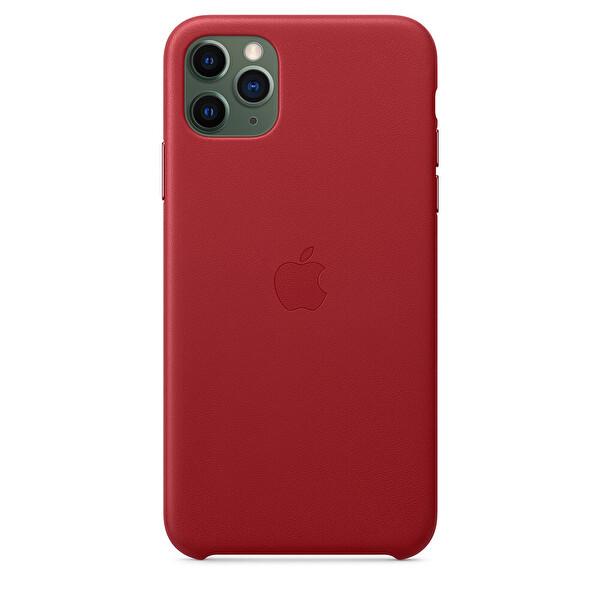Apple MX0F2ZM/A  iPhone 11 Pro Max Deri kılıf - (PRODUCT)RED