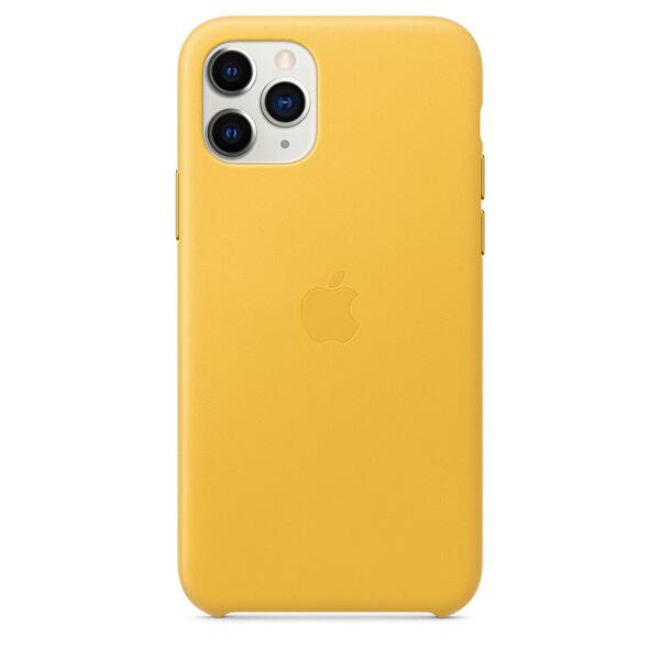 Apple MWYA2ZM/A iPhone 11 Pro  Deri Kılıf- Meyer Limon