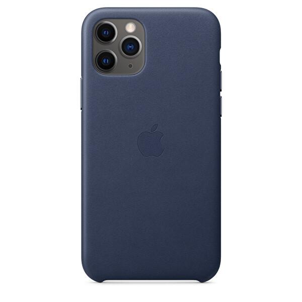 Apple iPhone 11 Pro Gece Mavisi Deri Kılıf MWYG2ZM/A