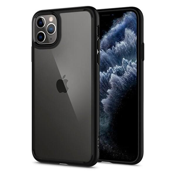 Spigen iPhone 11 Pro Ultra Hybrid Matte Siyah Telefon Kılıfı