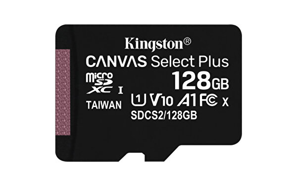 Kingston 128GB Microsdxc Canvas Select Plus 100r A1 C10 Card ve Adapter