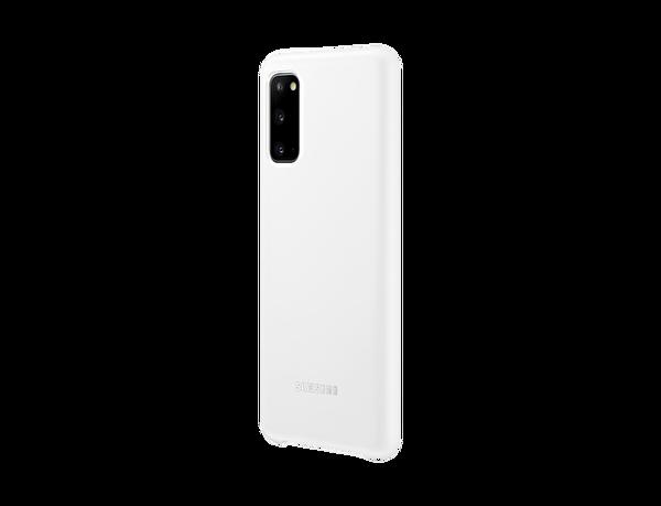 Samsung Galaxy S20 LED Kılıf Beyaz