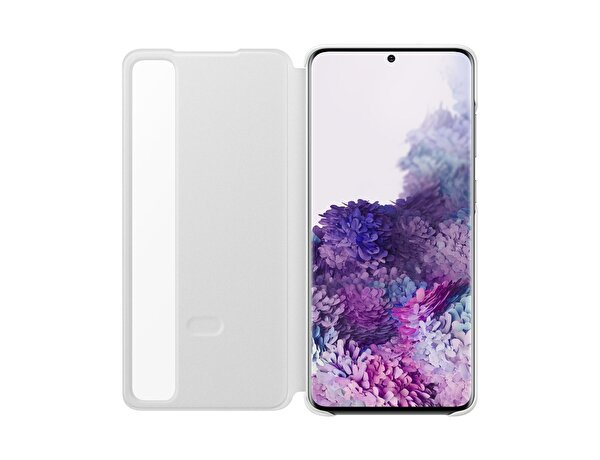 Samsung Galaxy S20 Plus Clear View Kılıf  Beyaz