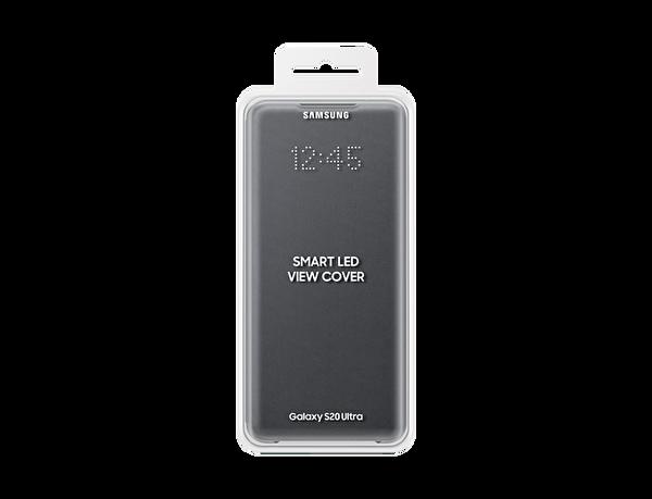 Samsung Galaxy S20 Ultra LED View Kılıf Gri