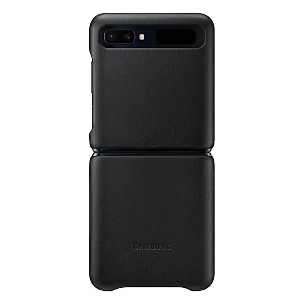 Samsung Galaxy Z Flip Deri Kılıf Siyah