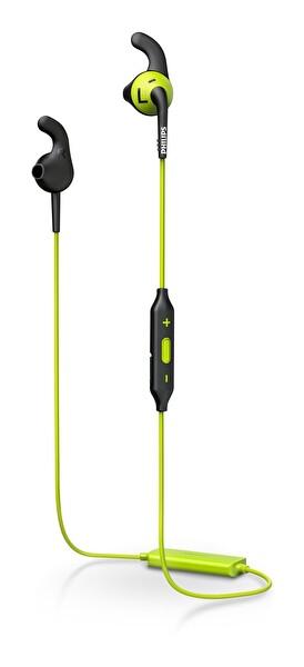 Philps Shq6500Cl Mikrofonlu Sporcu Kablosuz Kulak İçi Kulaklık Sari Siyah