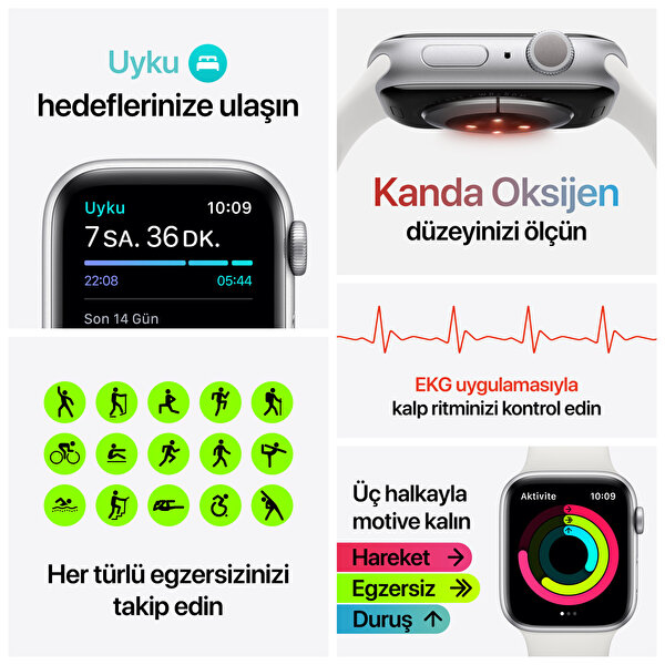 Apple Watch Nike Seri 6 40mm Space Gray Alüminyum Kasa ve Antrasit Spor Kordon M00X3TU/A
